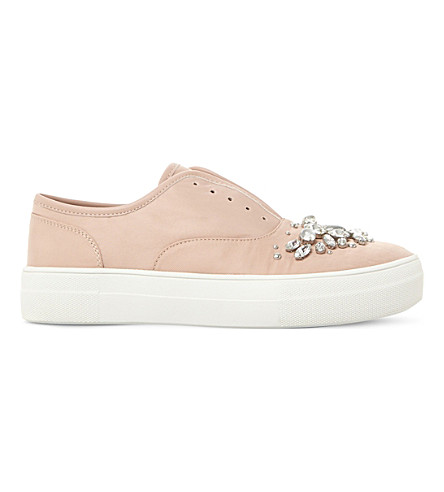 STEVE MADDEN Passion sm embellished slip-on trainers (Blush-fabric