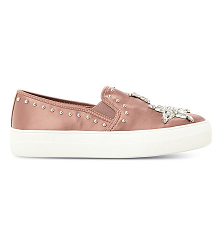 STEVE MADDEN Star embellished satin skate shoes (Blush-fabric