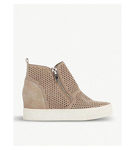 Wedgie - P perforated suede trainers