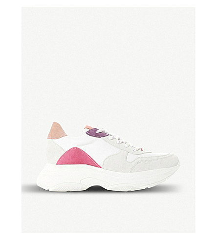 STEVE MADDEN Zela leather flatform trainers (White-leather