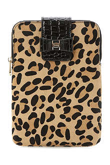 DUNE Leopard and mock croc mini iPad case