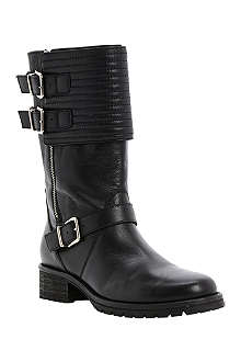 DUNE BLACK Puligo leather biker boots