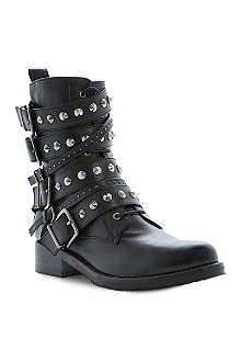 DUNE BLACK Pavlar leather biker boots