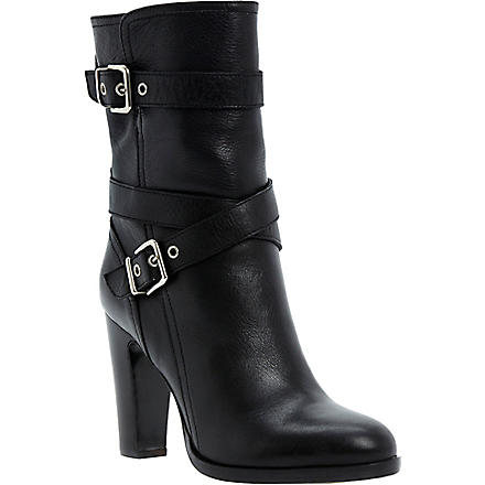 DUNE BLACK Rangel leather ankle boots (Black-leather