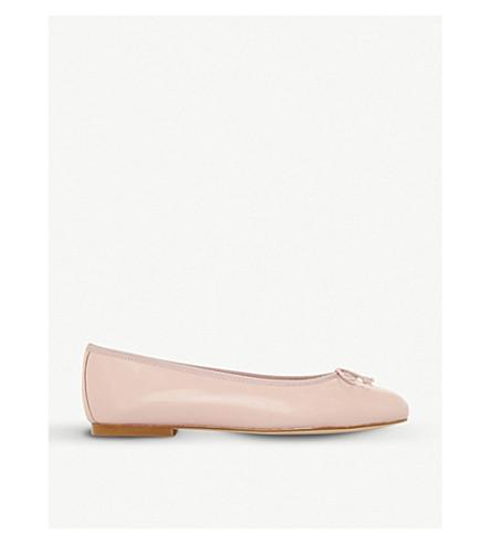 DUNE BLACK Hallam leather ballet flats (Pink
