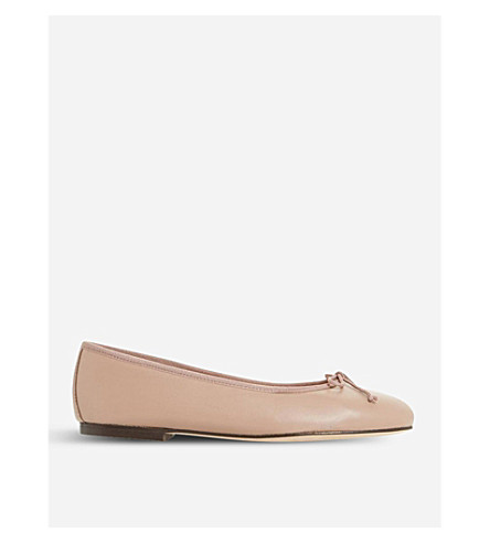 DUNE BLACK Hallam leather ballet flats (Blush-leather