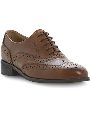 DUNE BLACK Helen leather brogues