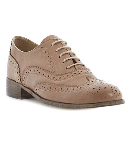 DUNE BLACK Helen leather brogues (Mink-leather