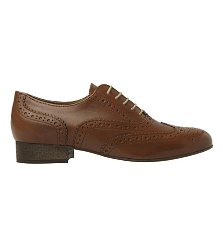 DUNE BLACK Ferne lace-up leather brogues (Tan leather