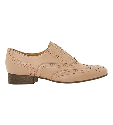 DUNE BLACK Ferne lace-up leather brogues (Beige leather