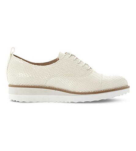DUNE BLACK Faraz leather flatform Oxford shoes (Cream