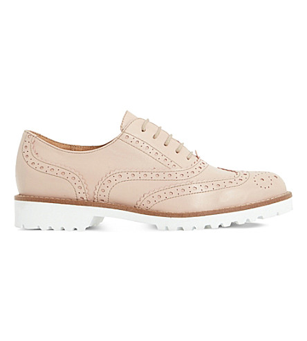 DUNE BLACK Fawna leather brogues (Blush-leather