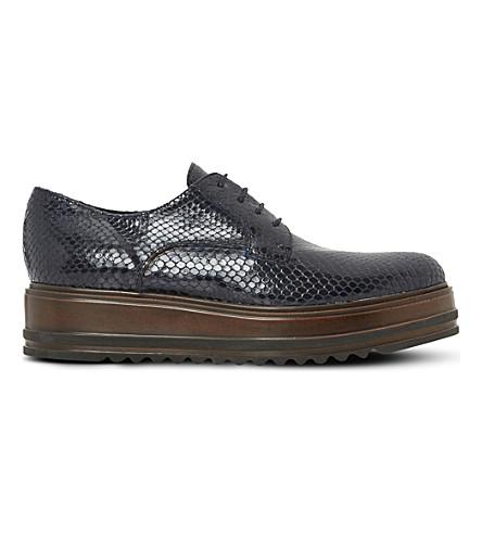 DUNE BLACK Folde oxford flatform shoes