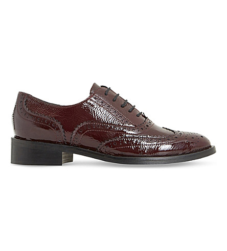 DUNE BLACK Fairston patent-leather shoes (Burgundy-leather