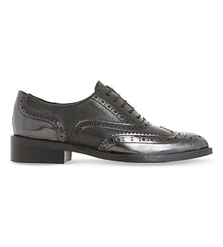 DUNE BLACK Fairston patent-leather shoes (Black-leather+mix