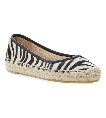 DUNE BLACK Gamba animal print espadrilles (Black/white-pony