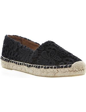 DUNE BLACK Gayle black lace espadrilles