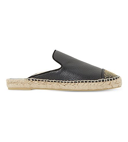 DUNE BLACK Glam backless espadrilles (Black-leather