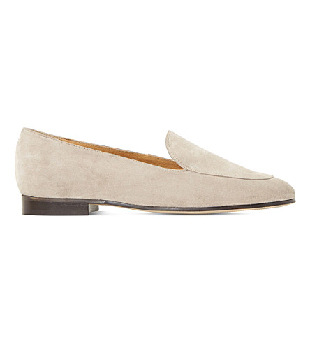 DUNE BLACK Globe suede loafers (Natural-suede