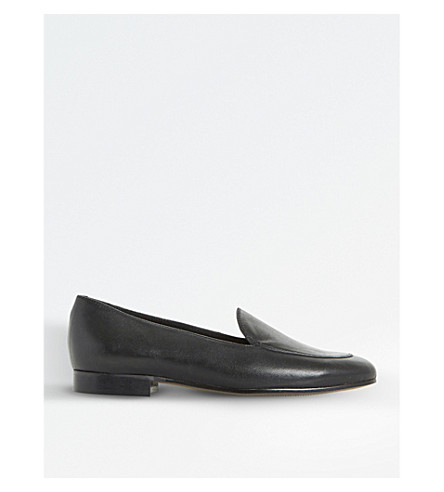 DUNE BLACK Globe leather loafers (Black-leather