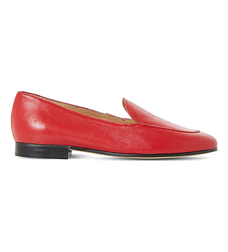 DUNE BLACK Globe leather loafer (Red-leather