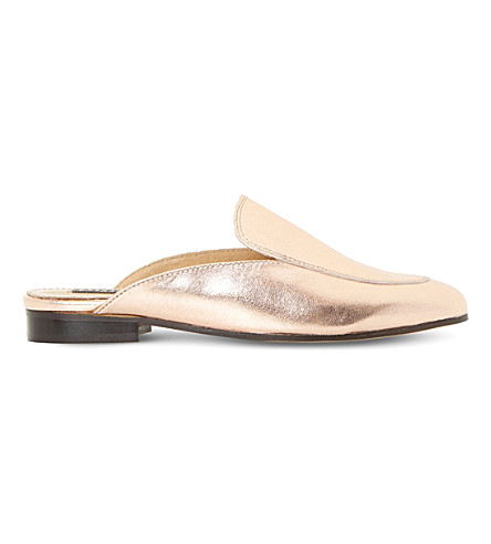 DUNE BLACK Guilde metallic leather loafers (Rose+gold-leather