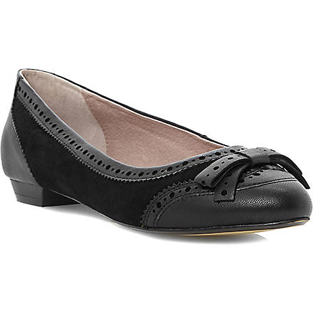 DUNE BLACK Prout leather pumps (Black-leather