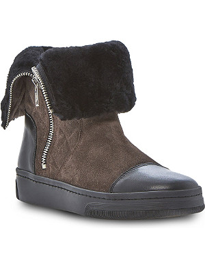 DUNE BLACK Pingoo quilted ankle boots