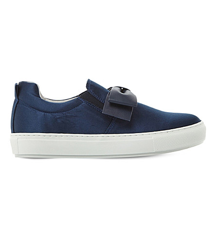 DUNE BLACK Entrance satin skate shoes (Navy-satin