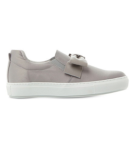 DUNE BLACK Entrance satin skate shoes (Grey-satin