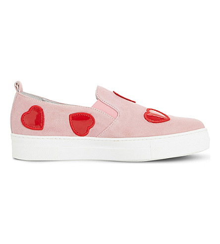 DUNE BLACK Ever-after slip on trainers (Pink-suede