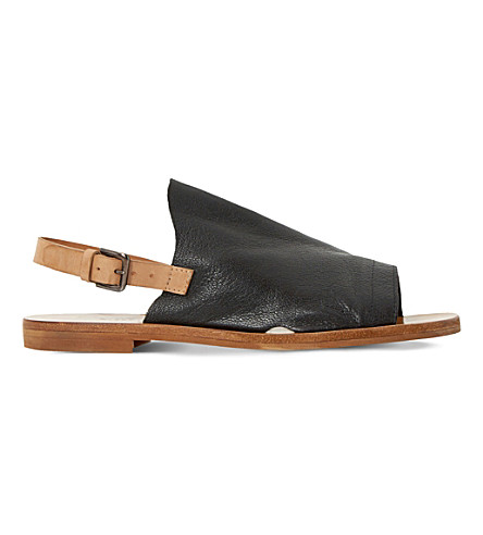 DUNE BLACK Lilymay leather sandals (Black-leather