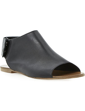 DUNE BLACK Lilli high vamp leather flats