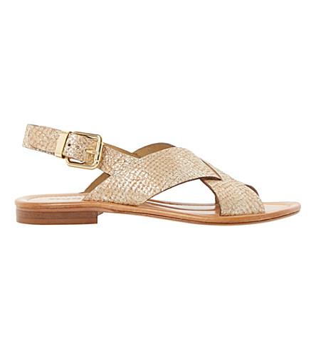 DUNE BLACK Lois flat sandals (Nude-reptile