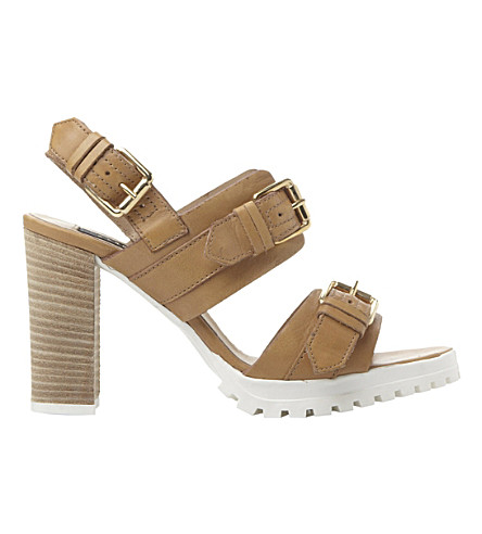 DUNE BLACK Jaimie cleated buckle sandals (Tan-leather