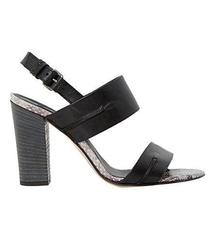 DUNE BLACK Jenifer leather sandals (Black-leather