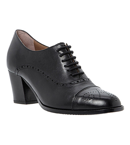 DUNE BLACK Agar leather brogues (Black-leather