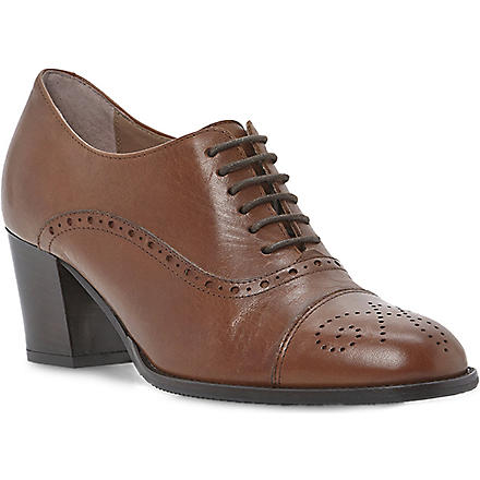 DUNE BLACK Agar leather brogues (Tan-leather