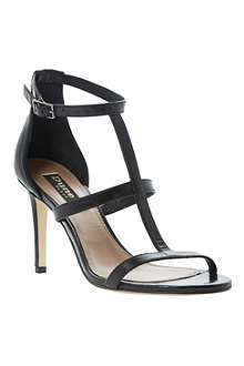 DUNE BLACK Hattie T-bar leather sandals