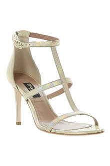 DUNE BLACK Hattie T-bar metallic sandals