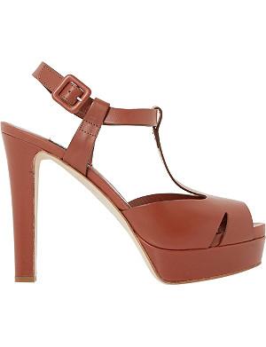 DUNE BLACK Marykate peep-toe platform heels