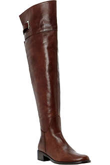 DUNE BLACK Leather over-the-knee riding boots