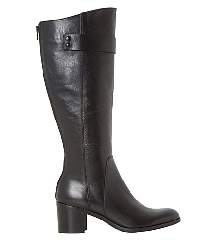 DUNE BLACK Tommie leather knee-high boots (Black-leather