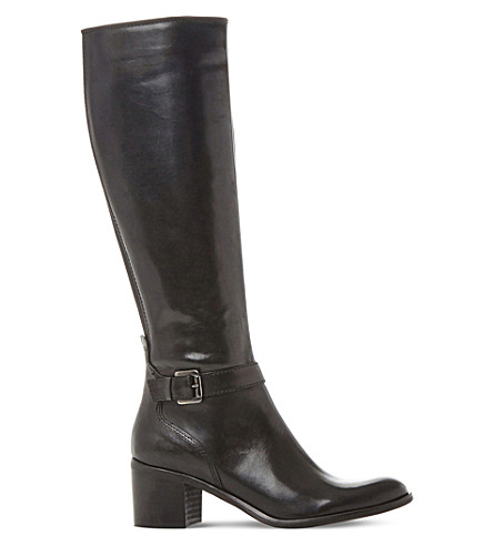 DUNE BLACK Tollie leather knee-high boots (Black-leather
