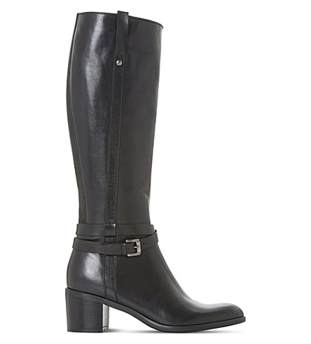 DUNE BLACK Timmie leather knee-high boots (Black-leather