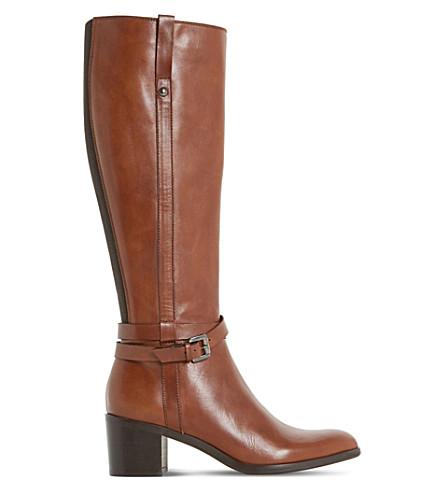 DUNE BLACK Timmie leather knee-high boots (Brown-leather