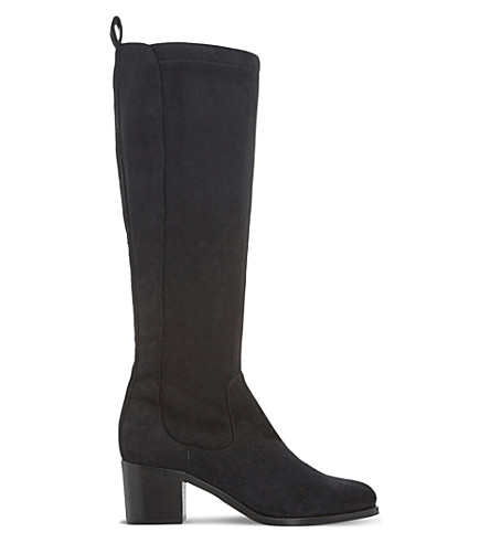 DUNE BLACK Teyla suede knee-high boots (Black-suede