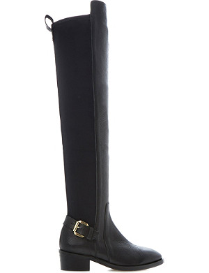 DUNE BLACK Tamsin over-the-knee leather boots