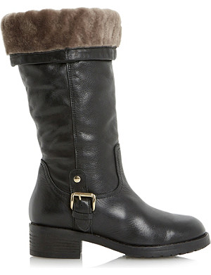 DUNE BLACK Tango knee-high leather boots