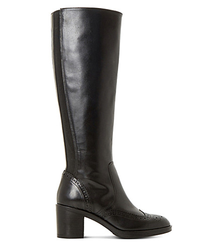 DUNE BLACK Tilbrey leather knee-high boots (Black-leather
